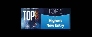 North East Top 200 List Highest New Entry Banner