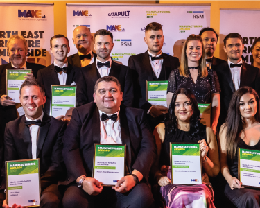 all winners of the Make UK regional award North East, Yorkshire and Humberside