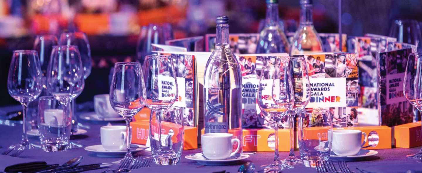 shot of a table with glasses and bottles