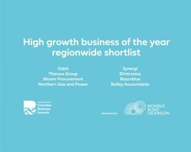 North East England Chamber Awards High Growth Business Shortlist