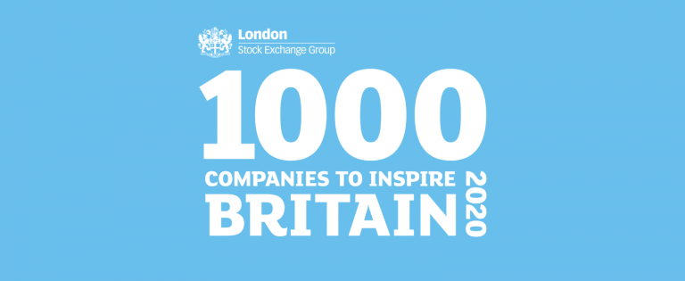 London Stock Exchange Group 1000 Companies to Inspire Britain 2020 banner