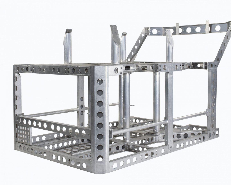 SMD fabricated aluminium ROV chassis