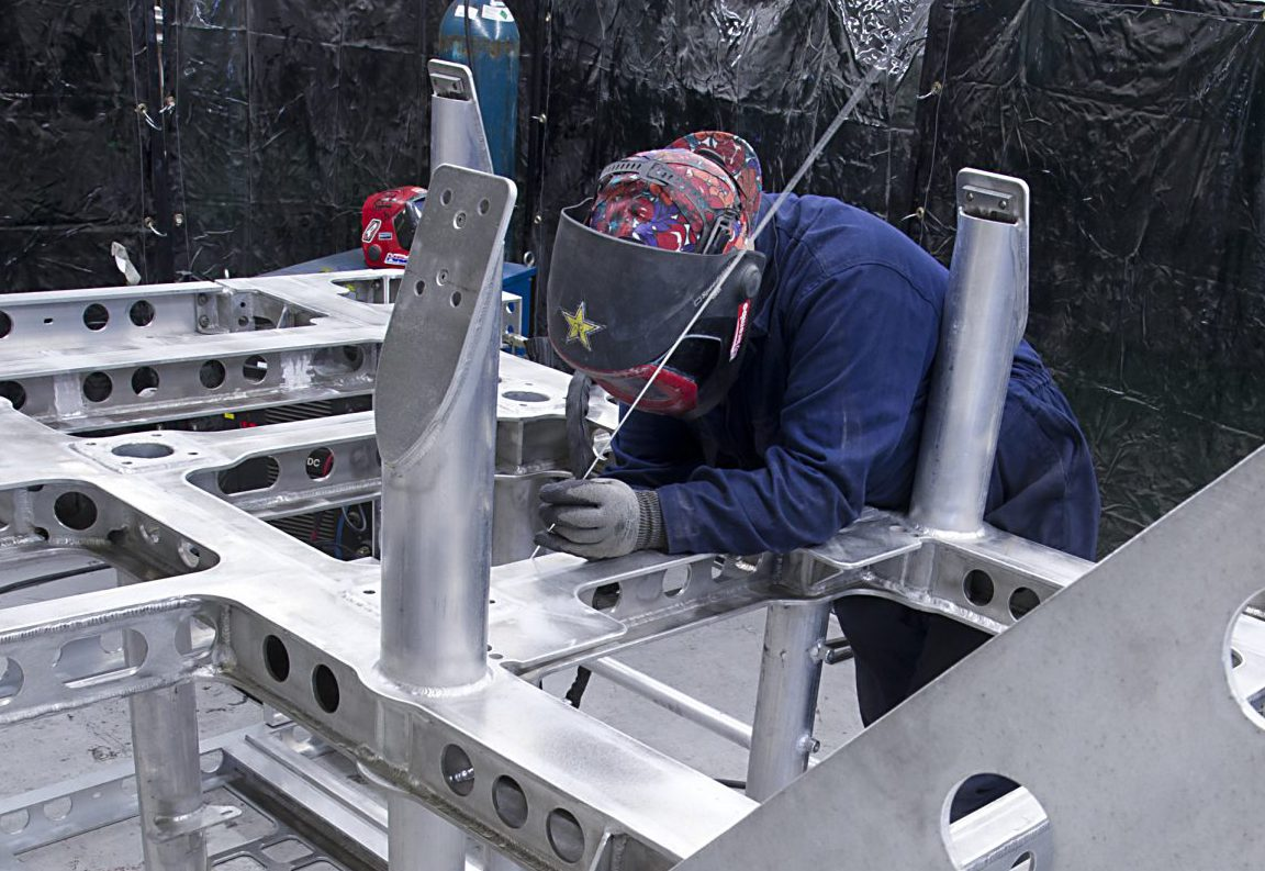 Case study: SMD ROV aluminium fabricated chassis in production