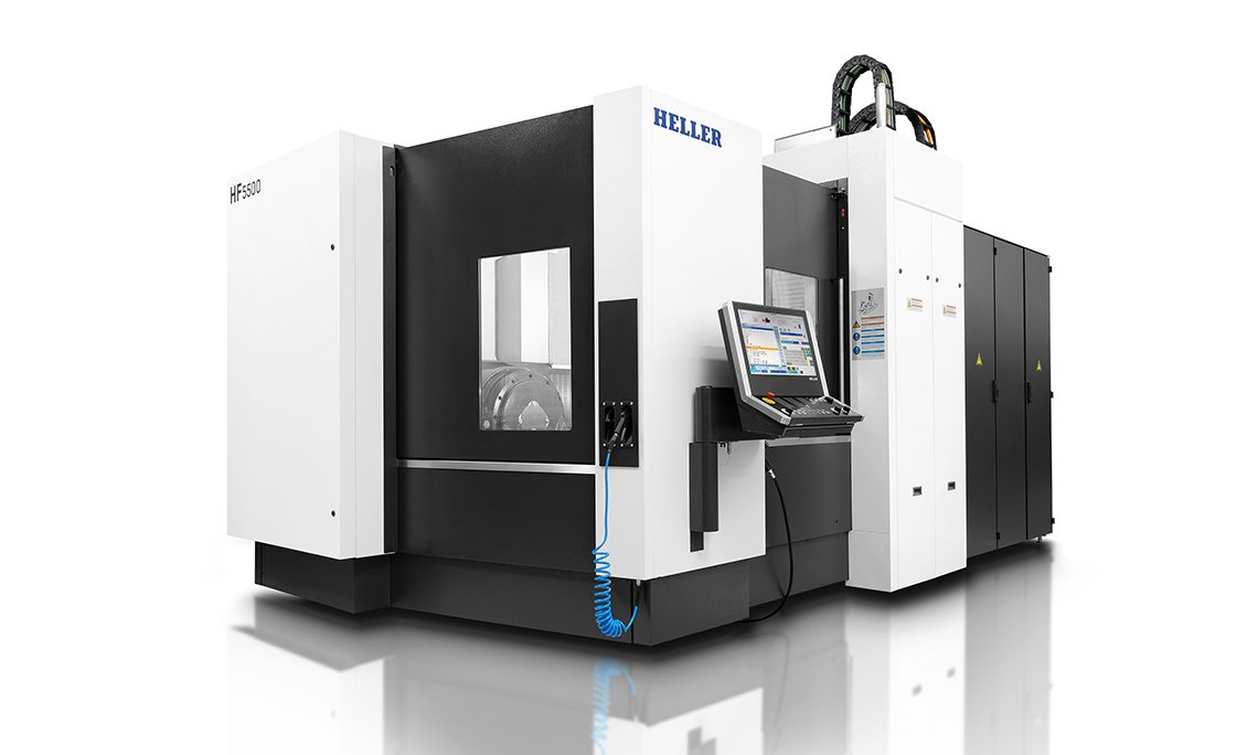 Universal Wolf case study Heller 5 Axis CNC machining centre
